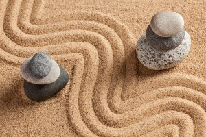 simplicity zen sand and stones for post on breaking through plateaus